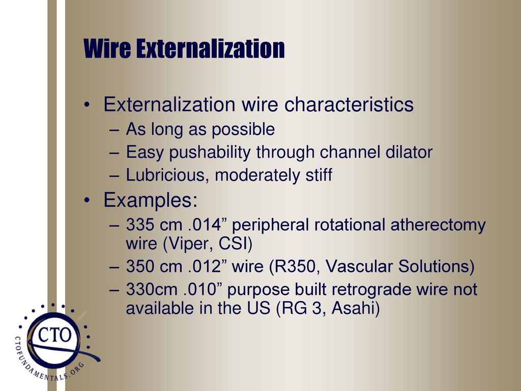 Wire Externalization, Snaring and Removal - ppt download