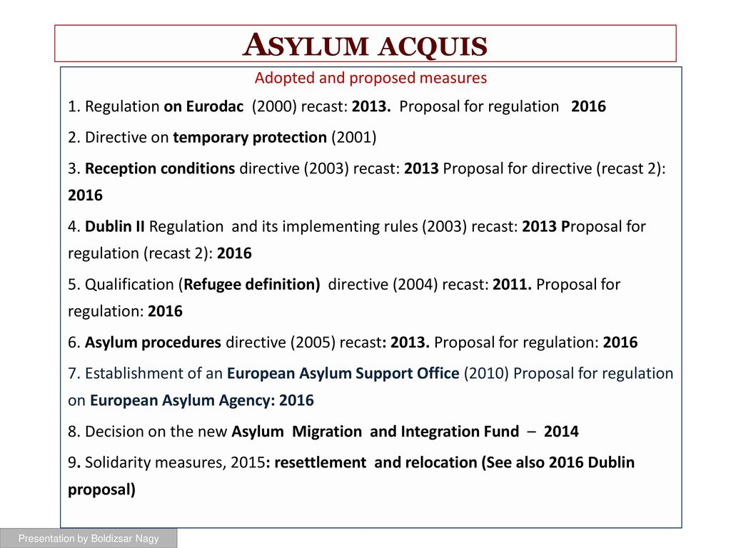 eu asylum law eipa training - ppt download