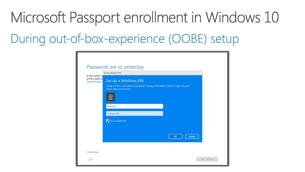 Microsoft Passport and Windows Hello Developer's Guide to Windows 10