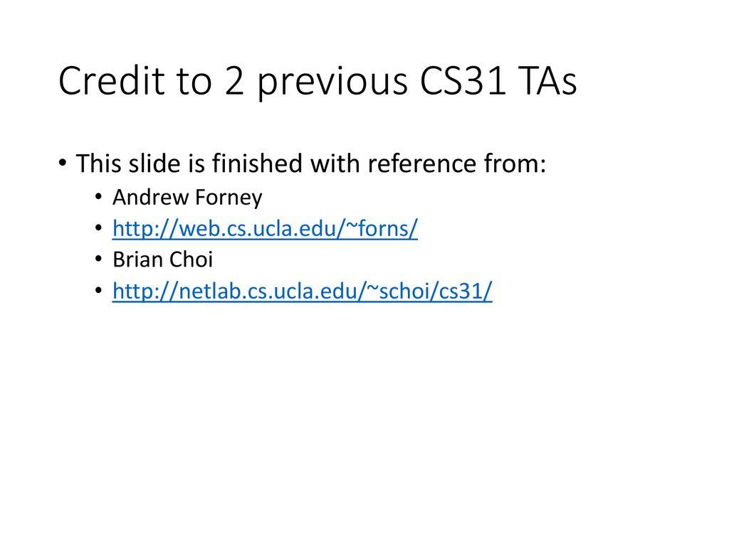 Cs31 Ucla