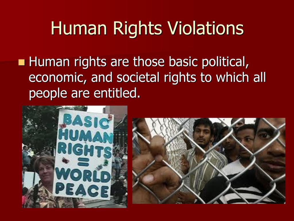 Focus 510 Human Rights Violations Have Occurred Numerous Times