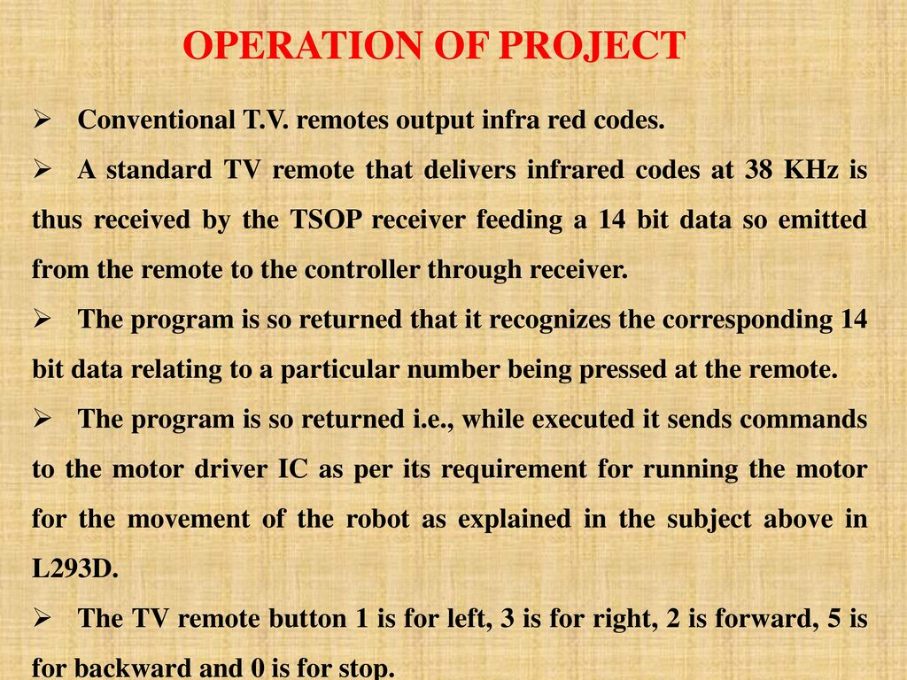 ANDROID APPLICATION CONTROLLED REMOTE ROBOT OPERATION - ppt download