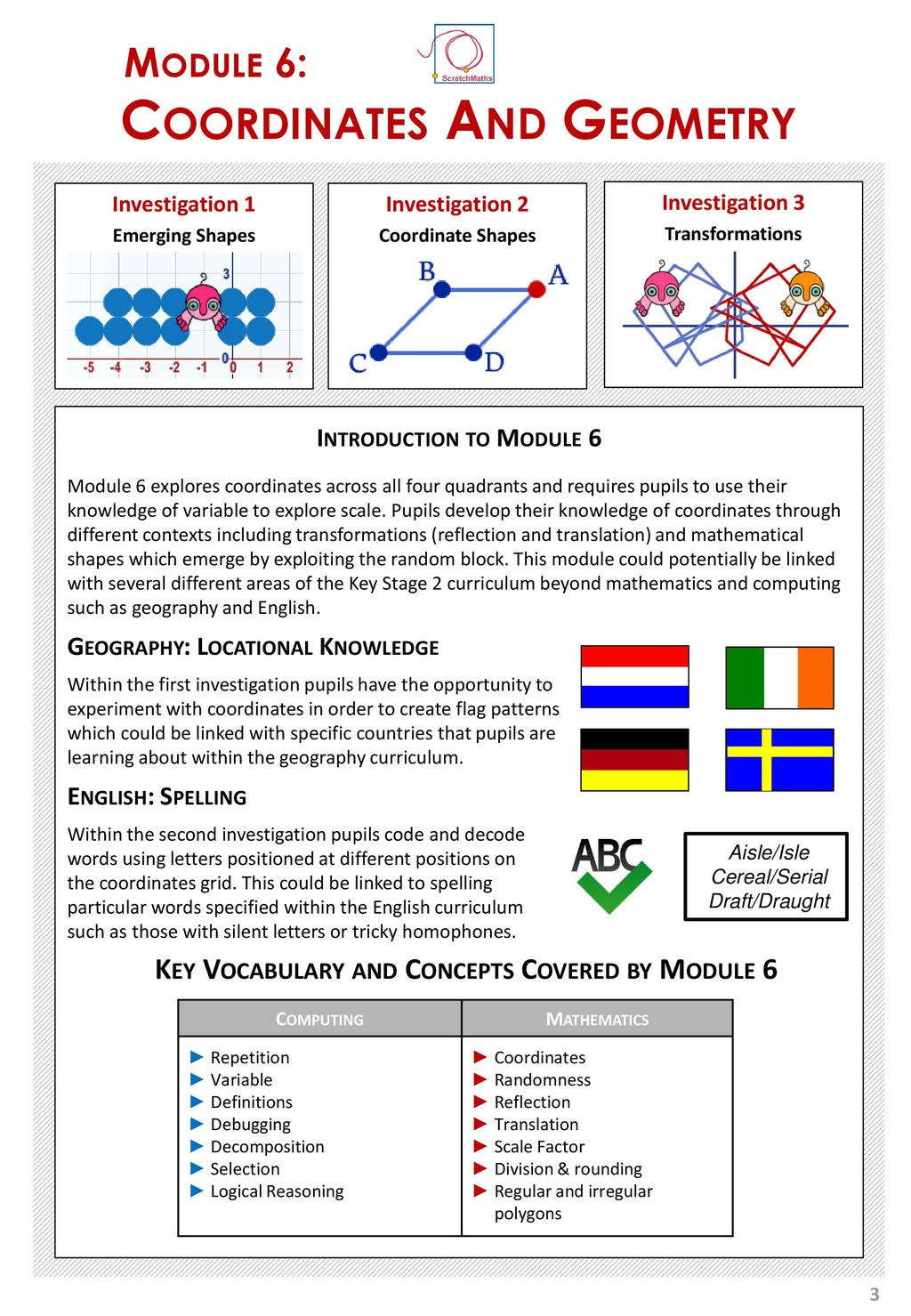 UCL ScratchMaths Curriculum Coordinates And Geometry Ppt