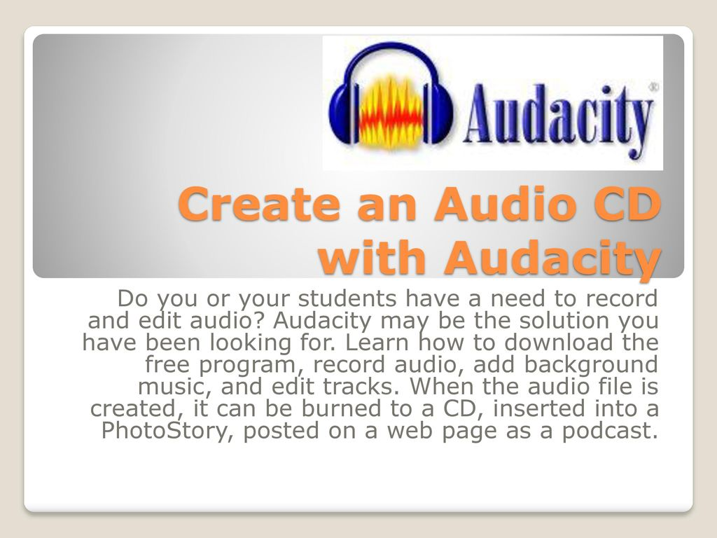 Audacity Presented by Carrie Walter - ppt download
