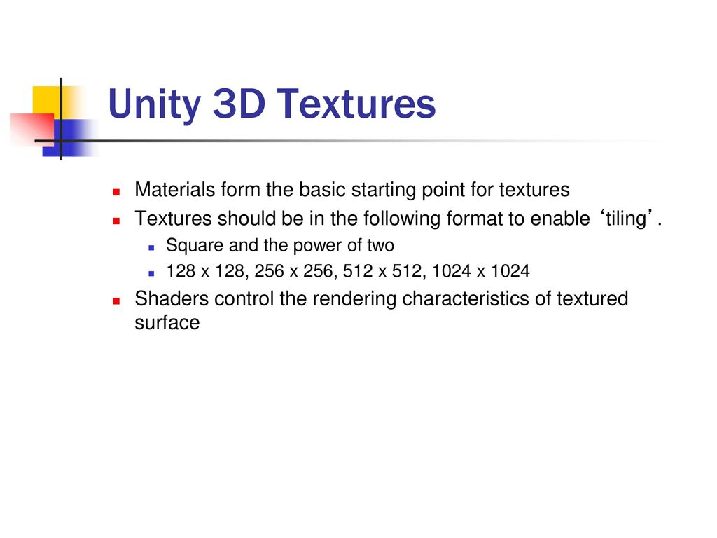3GB3 Game Design Unity 3D Basics  - ppt download