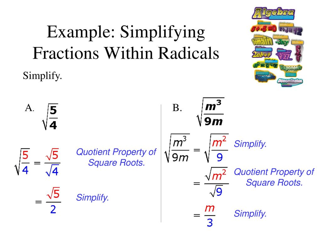 simplifying radicals section 10-2 part ppt download