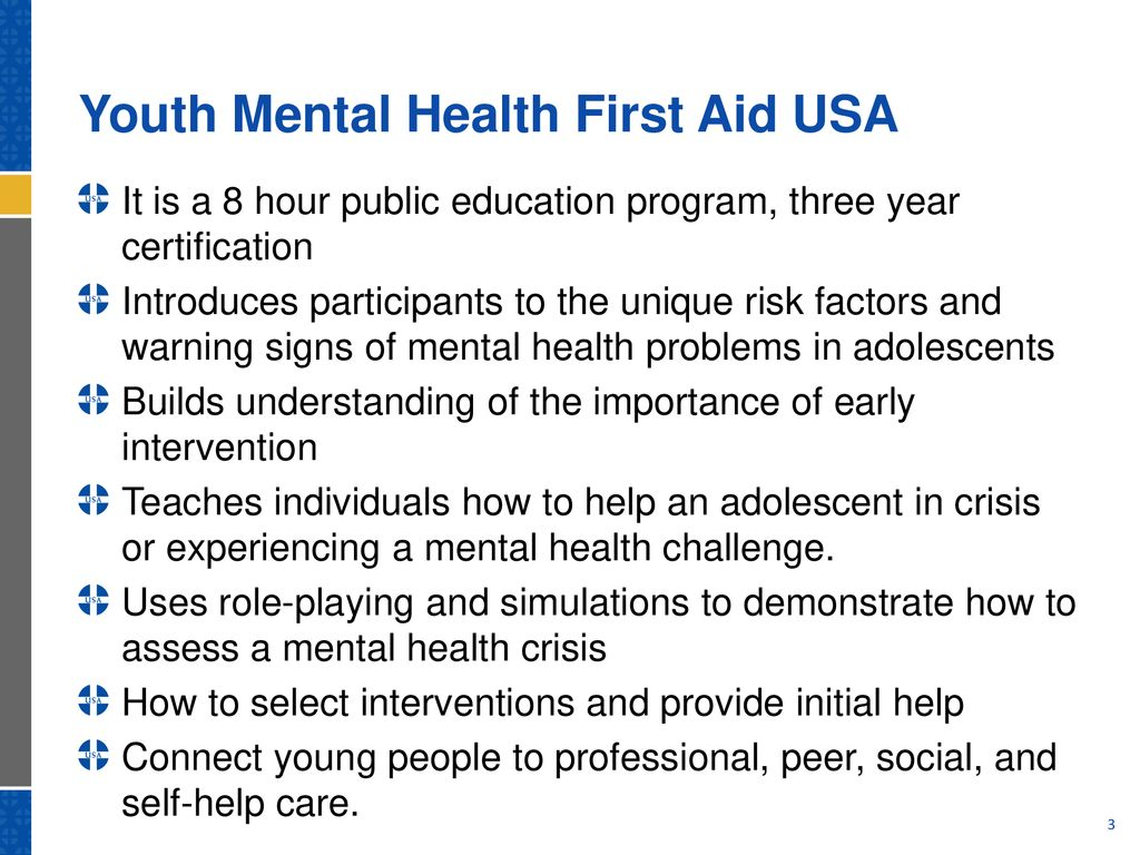 Youth Mental Health First Aid Overview Ppt Download