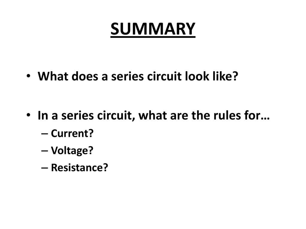 How Do We Measure Current And Potential Difference Voltage In A For The Text They Show Series Circuit That Looks Like This Summary What Does Look