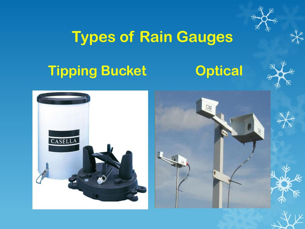Types of Rain Gauges Tipping Bucket Optical