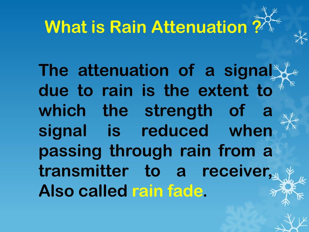 What is Rain Attenuation