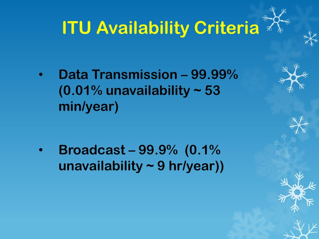 ITU Availability Criteria