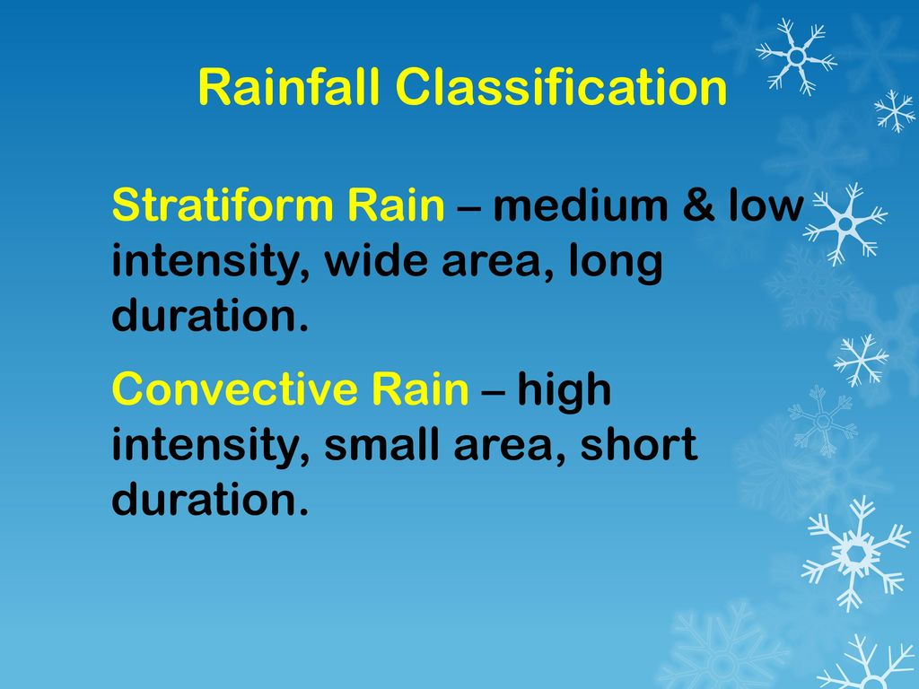 Rainfall Classification
