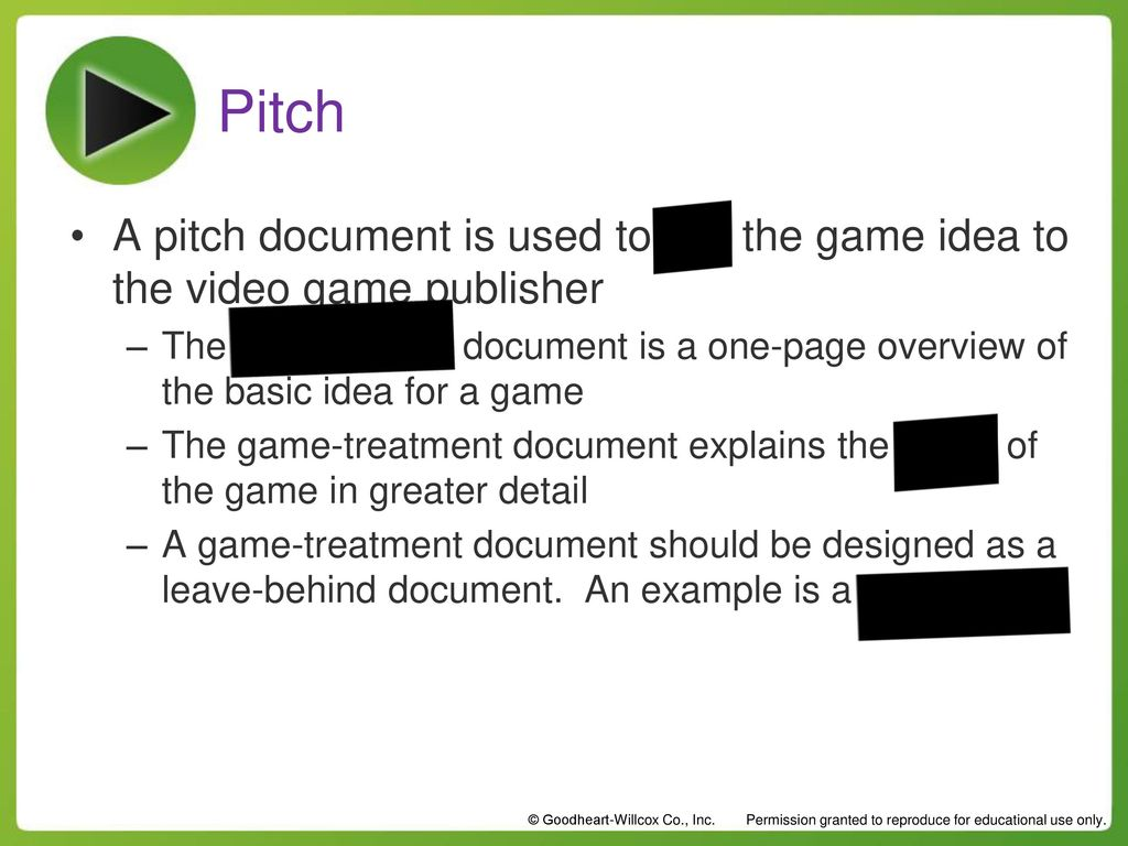 Design Composition Review Ppt Download - Video game pitch document template