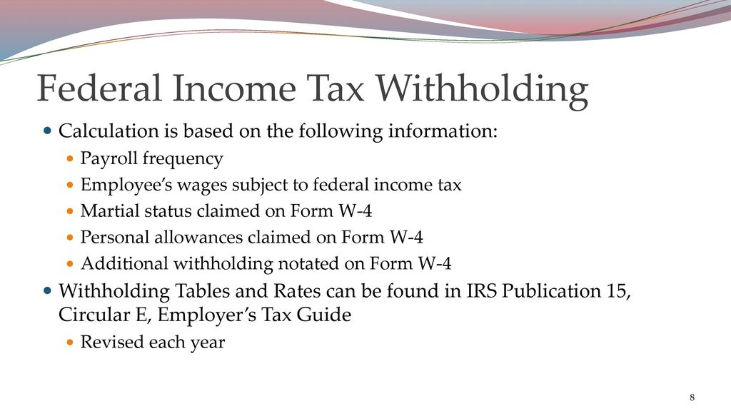 Withholding Taxes - ppt download