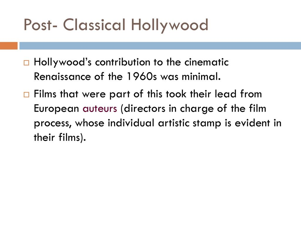 post classical films