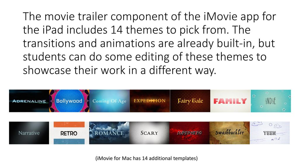 Imovie Turn Your Pictures And Videos Into Movie Magic Ppt Download