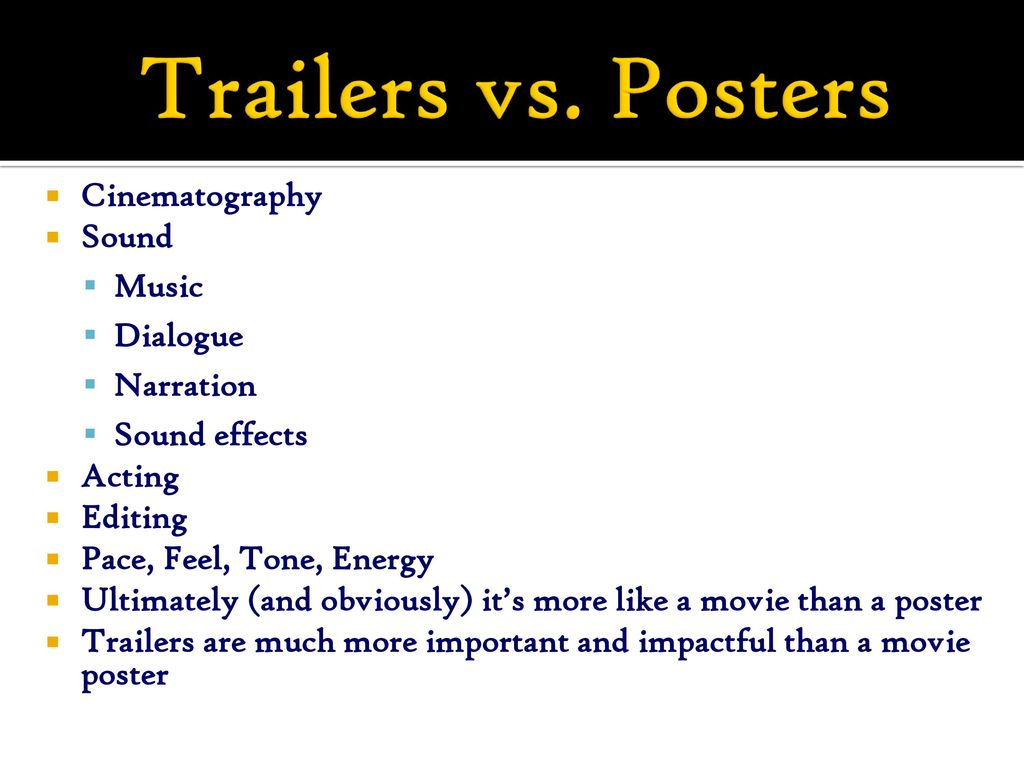 Movie Trailer Analysis Project - ppt download