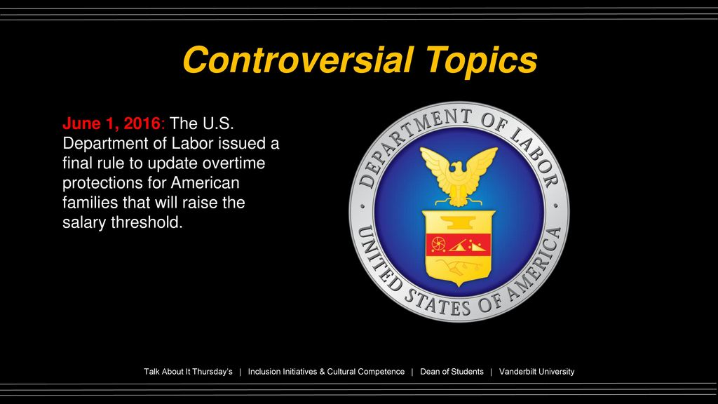 controversial topics in the us