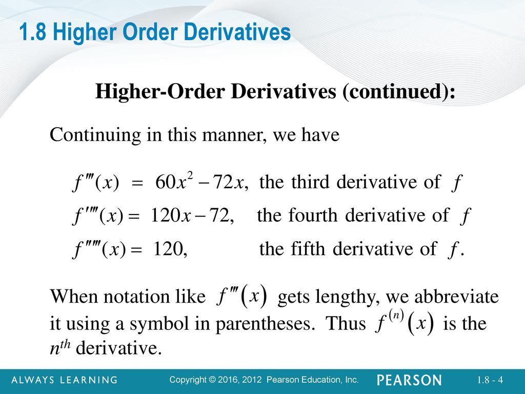 4 18 Higher Order Derivatives