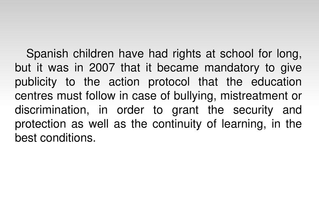 Learning How Bullying Happens In Order >> Facts About Bullying In Spain Ppt Download