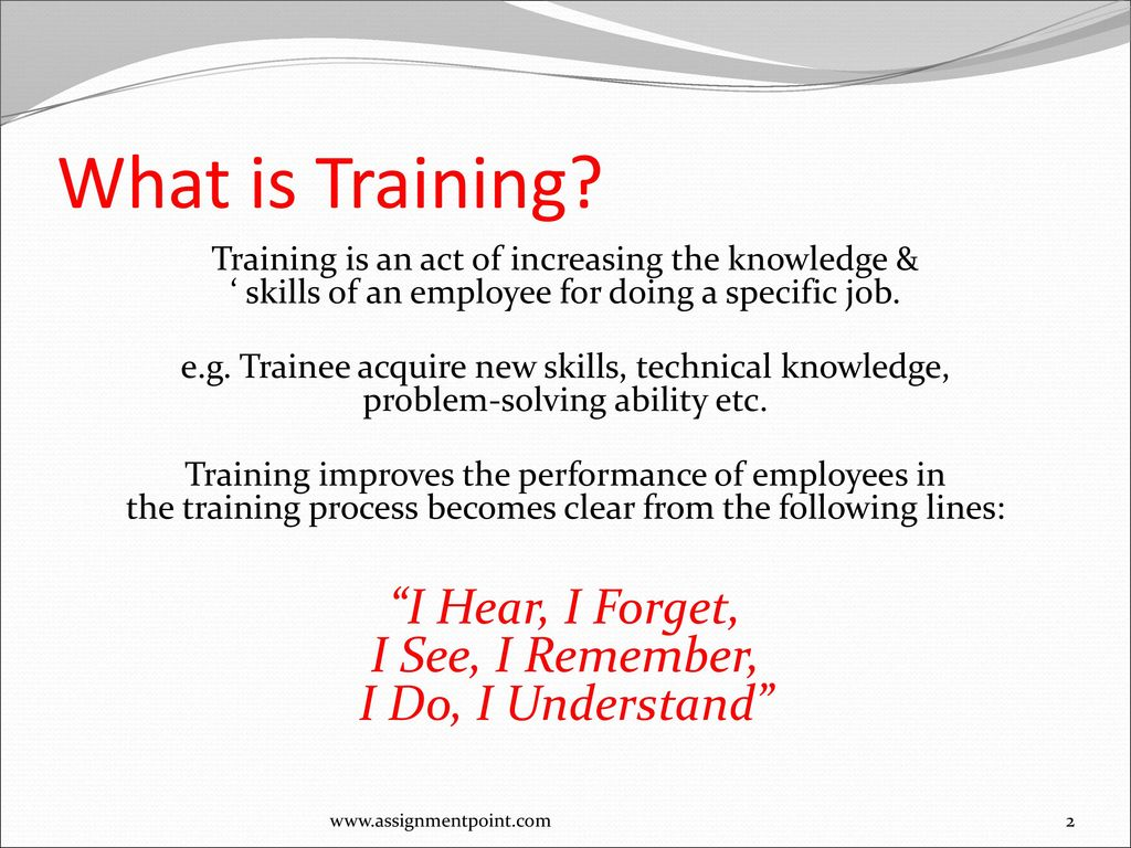 What is training 74