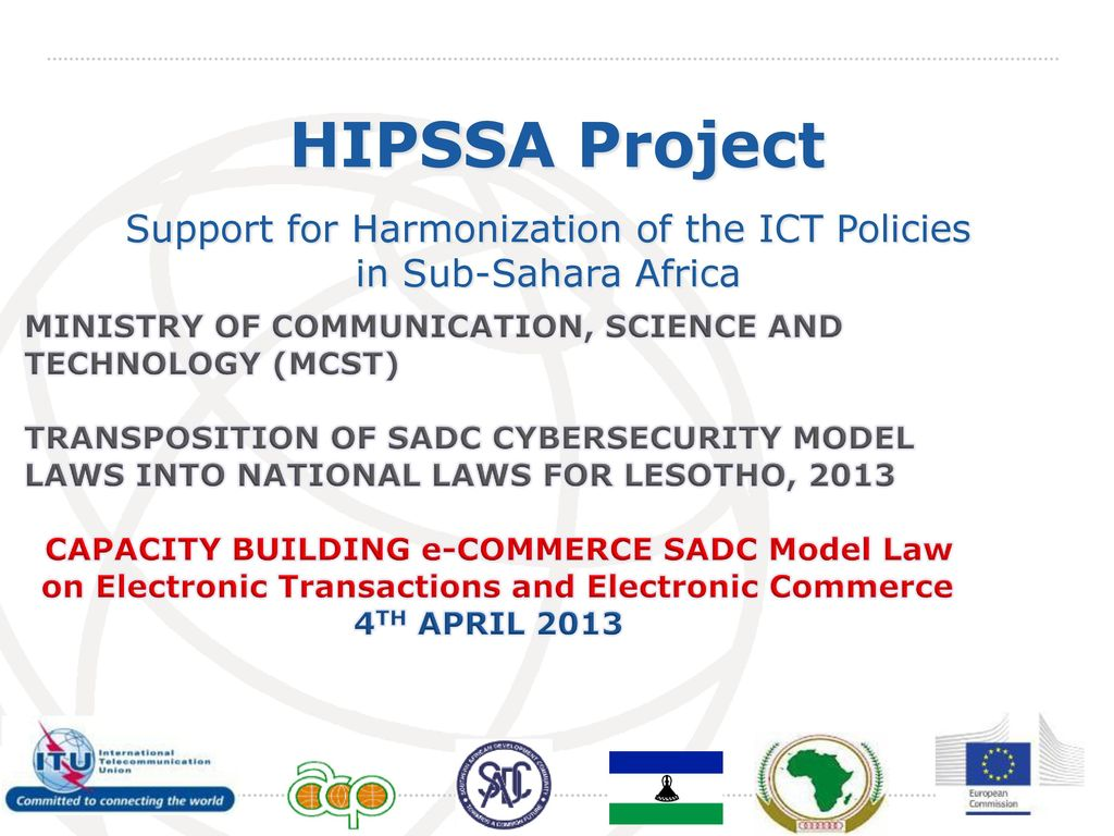 Support For Harmonization Of The Ict Policies In Sub Sahara Africa Electronics Projects April 2013