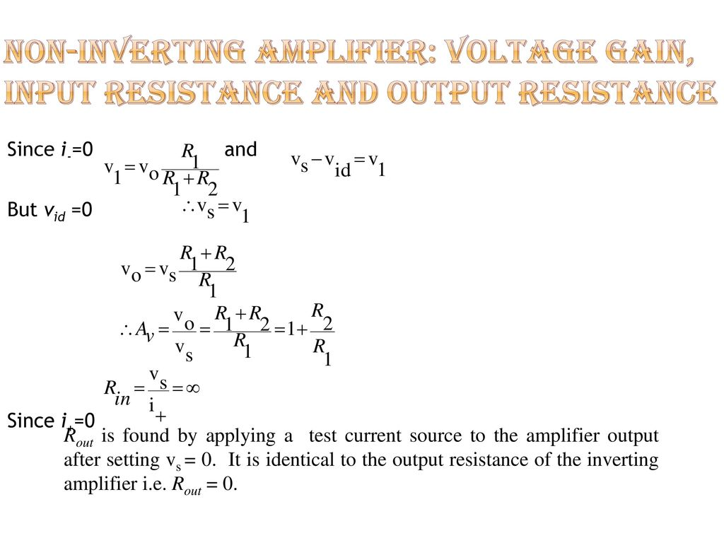 Spb Patel Engineering Collage Ppt Download Inverting Amplifier Vs Noninverting 10 Non