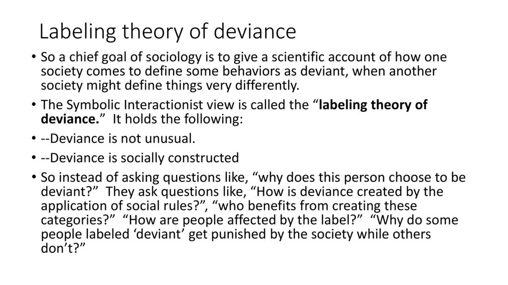 sociology labeling theory definition
