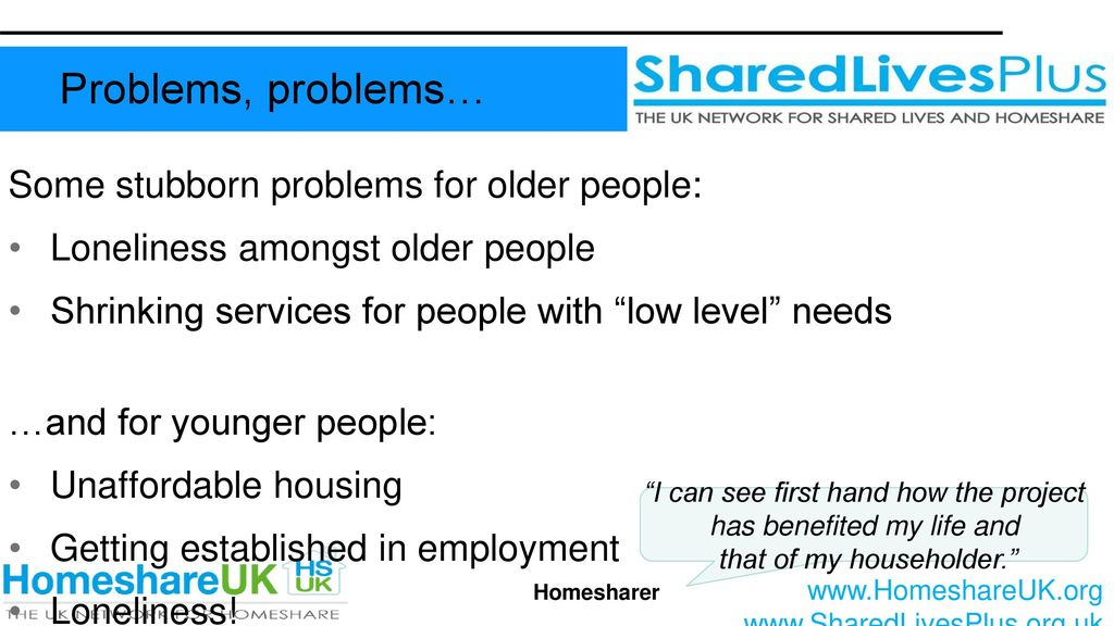 Homeshare in the UK Alex Fox, CEO Shared Lives Plus Chris