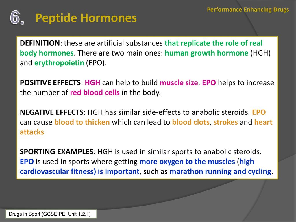 positive and negative effects of performance enhancing drugs