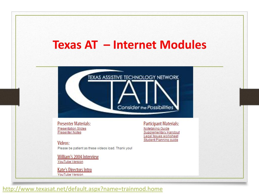 at internet modules