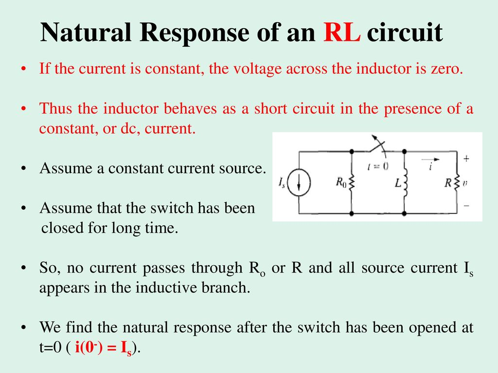 Inductance And Capacitance Response Of First Order Rl Rc Ppt Inductor In A Dc Circuit Natural An