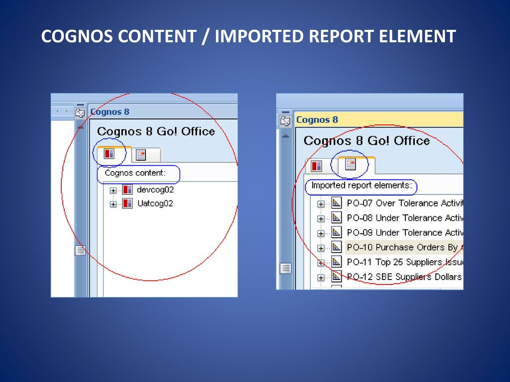 Example work with ibm cognos content in microsoft excel.