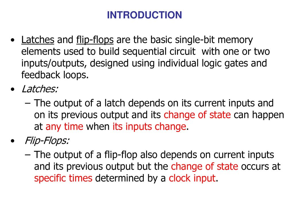 Latched Flip Flopsand Timers Ppt Download How To Build Set Reset Flop 2 Introduction