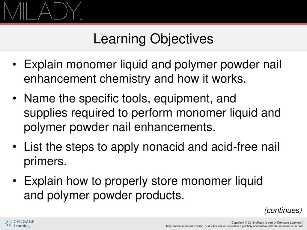 Monomer Liquid & Polymer Powder Nail Enhancements - ppt download