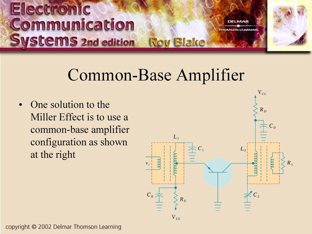 Chapter Two Radio Frequency Circuits Ppt Download Miller Rfcs 14 Wiring Diagram 10 Common Base Amplifier