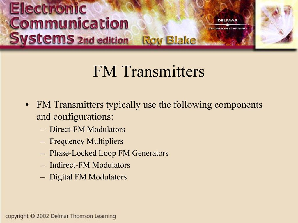 Chapter Two Radio Frequency Circuits Ppt Download Block Diagram For An Fm Transmitter Using Indirect Is Attached What 93 Transmitters Typically Use