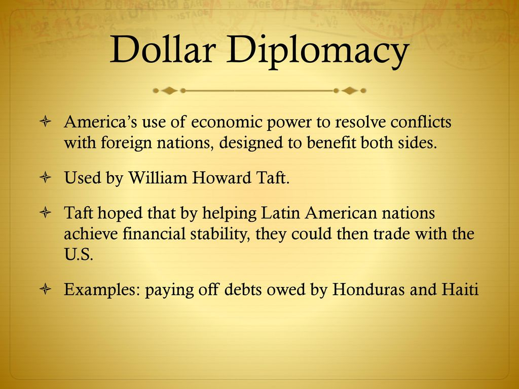 dollar diplomacy examples