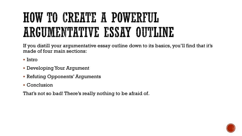 English Essay Papers How To Create A Powerful Argumentative Essay Outline Harvard Business School Essay also Business Studies Essays Argumentative Research Paper  Ppt Download Healthy Eating Essay