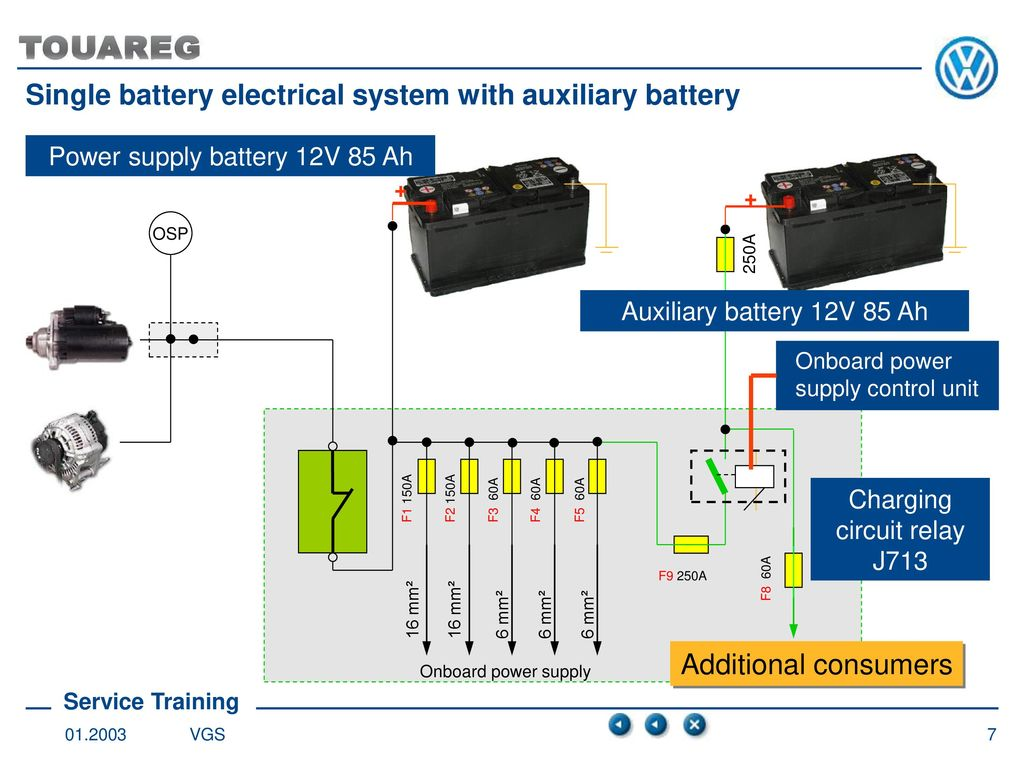 Battery Concept Single Electrical System Ppt Download Charger Circuit Using A Relay Electronic 7 With Auxiliary