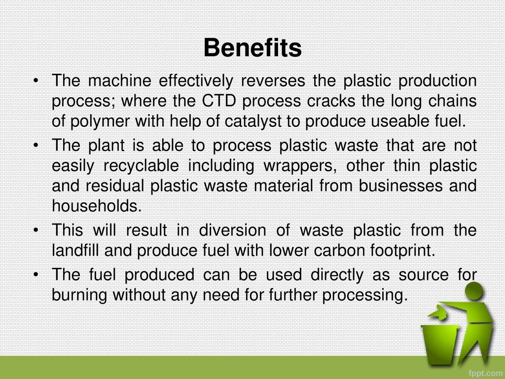 Waste Plastic to Poly Fuel Catalytic Thermal