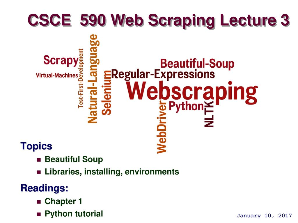 CSCE 590 Web Scraping Lecture 3 - ppt download