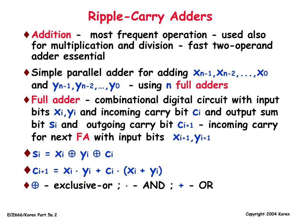 University Of Massachusetts Dept Ppt Download The 8bit Ripple Adder Uses 8 Ofthese Full Circuits 2 Carry Adders