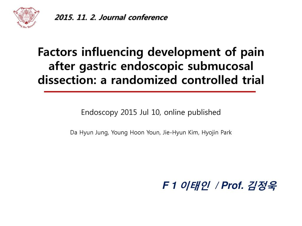 Journal conference Factors influencing development of pain