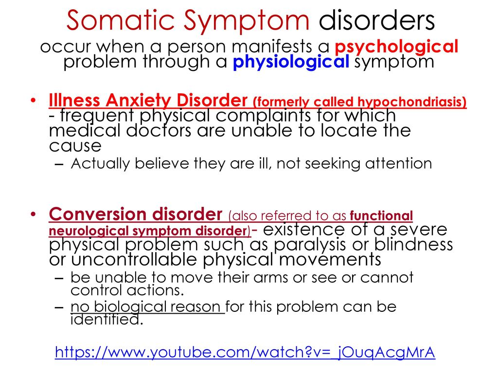 Somatic Symptom disorders - ppt download