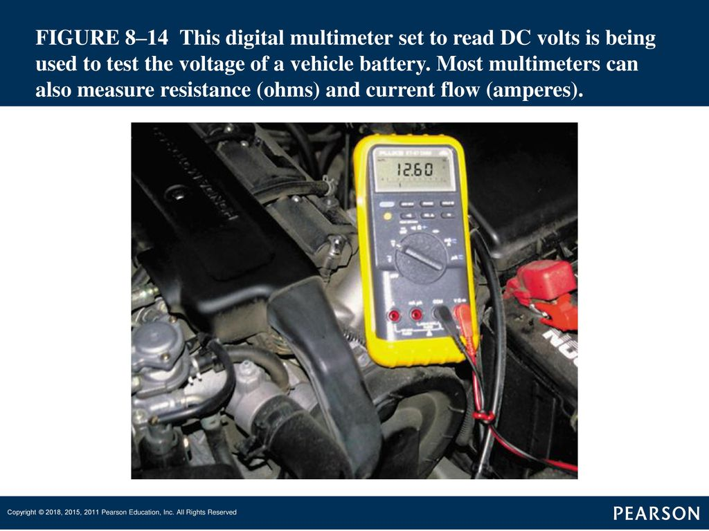 Automatic Transmissions And Transaxles Ppt Download Tang Ampere Digital Ac Dc Volth S 34 Figure 814 This Multimeter Set To Read Volts Is Being Used