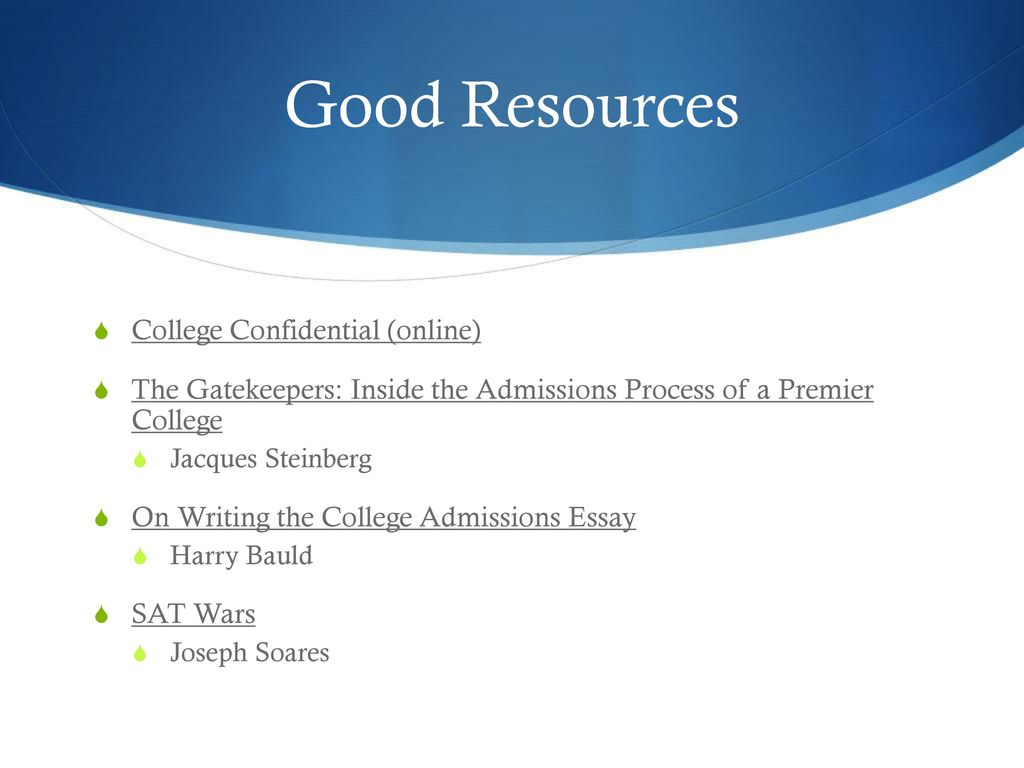 Navigating the College Application Process - ppt download