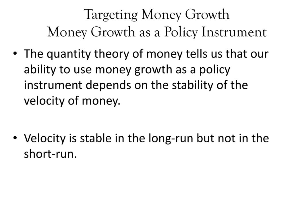 money demand and monetary policy in Monetary policy and interest the previous chapter covered the money supply and how money is created this chapter covers the demand for money money demand,the equilibrium interestrate, and monetary policy appendix a and appendix b prepared by: fernando quijano and yvonn.