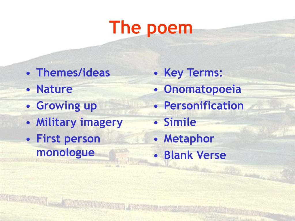 Death of a Naturalist Seamus Heaney  - ppt download