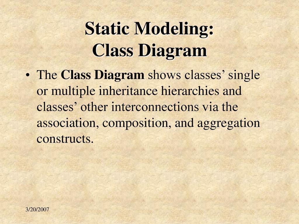Week 11 uml overview ifs410 uml models spring ppt download static modeling class diagram ccuart Images